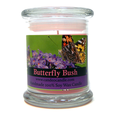 Butterfly Bush, 9oz Soy Candle Jar - Candeo Candle