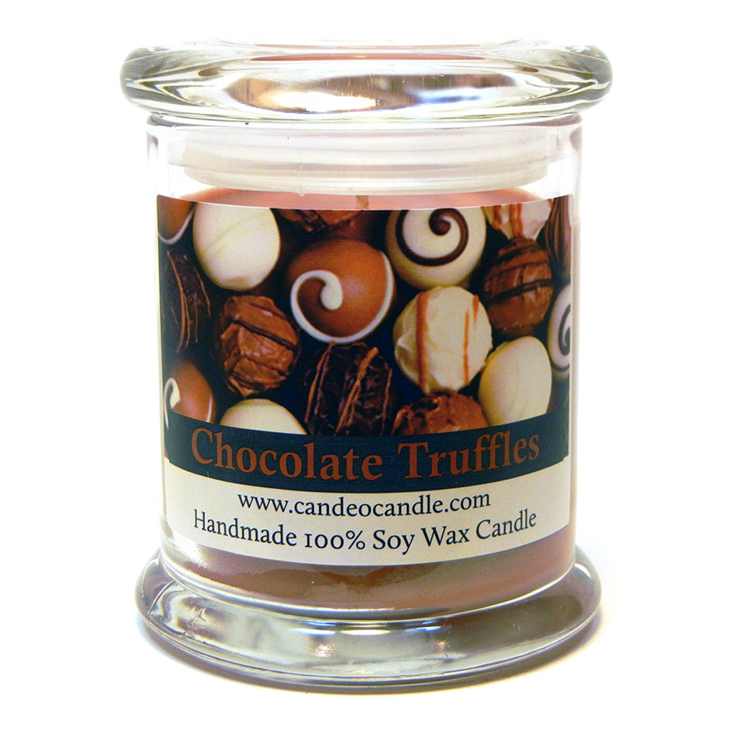Chocolate Truffles, 9oz Soy Candle Jar - Candeo Candle