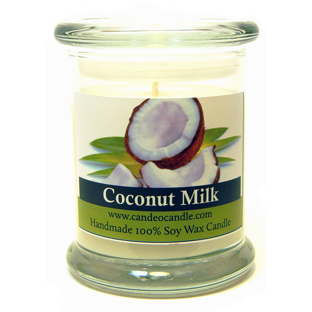 Coconut Milk, 9oz Soy Candle Jar - Candeo Candle