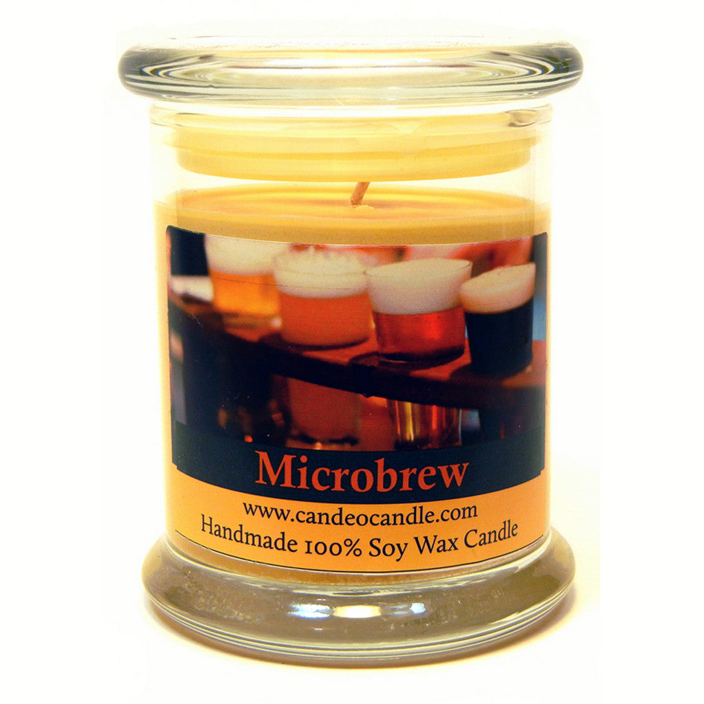 Microbrew, 9oz Soy Candle Jar - Candeo Candle
