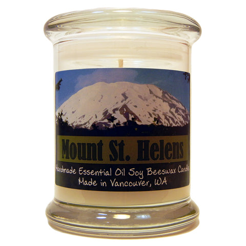 Mount St. Helens, Essential Oil Blend, 9oz Soy Candle Jar - Candeo Candle