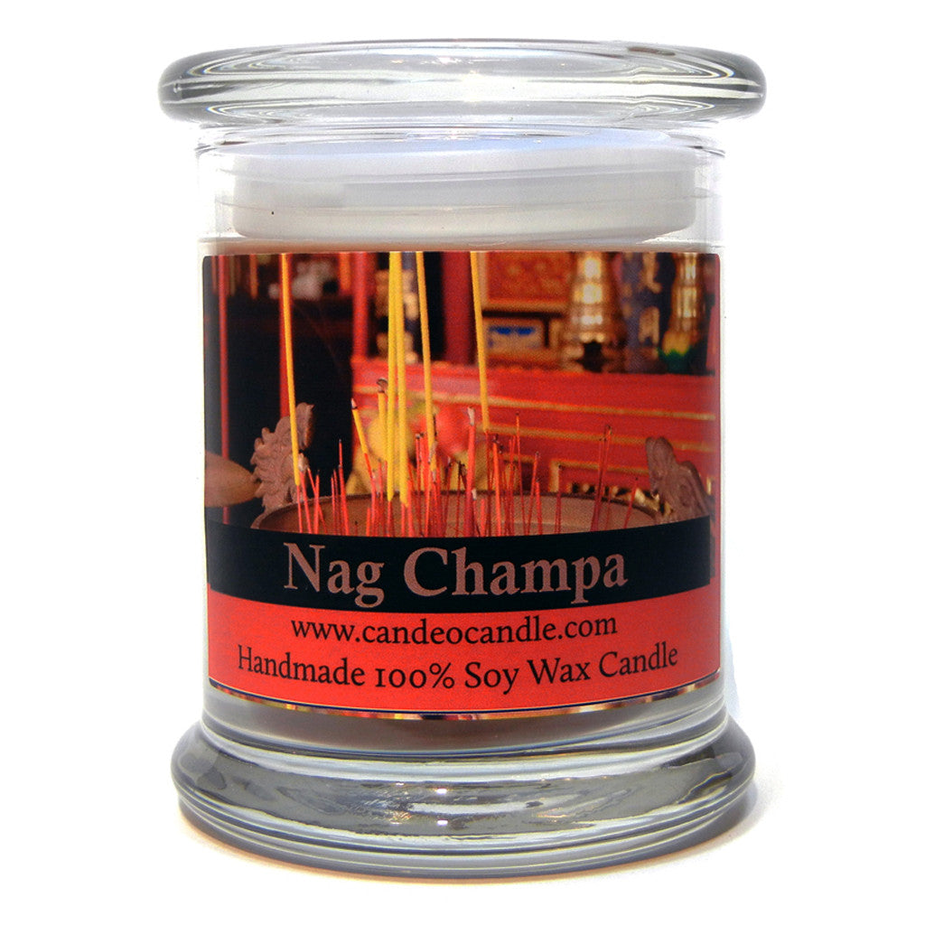 Nag Champa, 9oz Soy Candle Jar - Candeo Candle