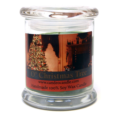 O' Christmas Tree, 9oz Soy Candle Jar - Candeo Candle