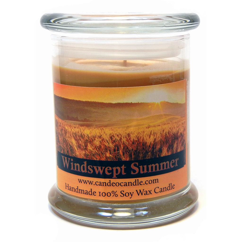Windswept Summer, 9oz Soy Candle Jar - Candeo Candle