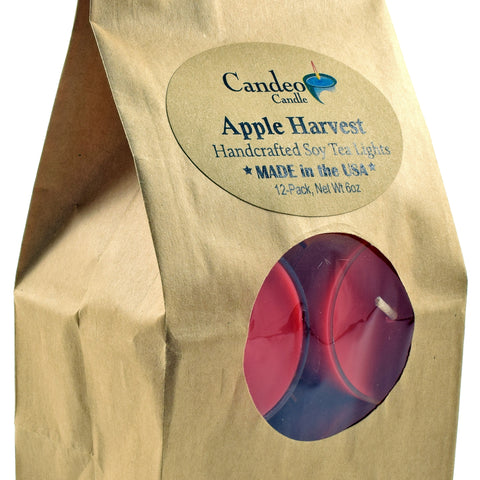 Apple Harvest, Soy Tea Light 12-Pack