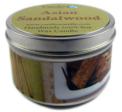 Asian Sandalwood, 6oz Soy Candle Tin - Candeo Candle