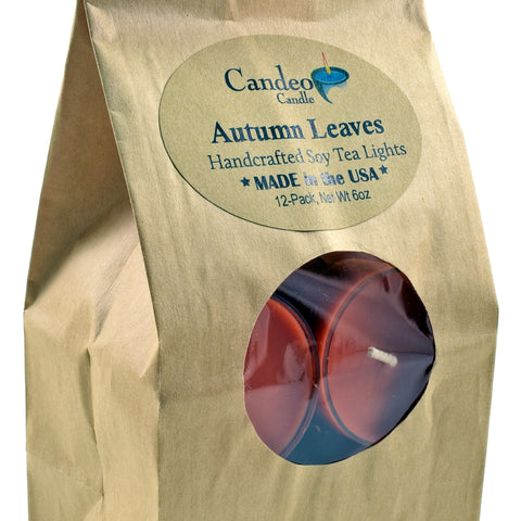 Autumn Leaves, Soy Tea Light 12-Pack