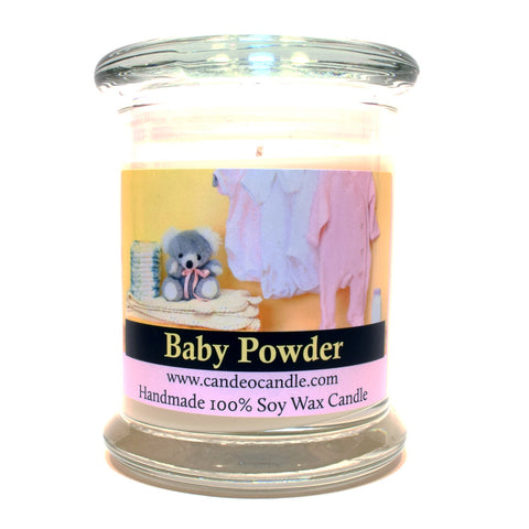 Baby Powder, 9oz Soy Candle Jar - Candeo Candle
