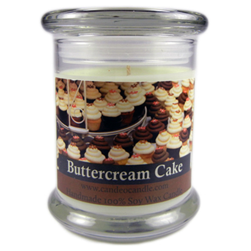Buttercream Cake, 9oz Soy Candle Jar - Candeo Candle