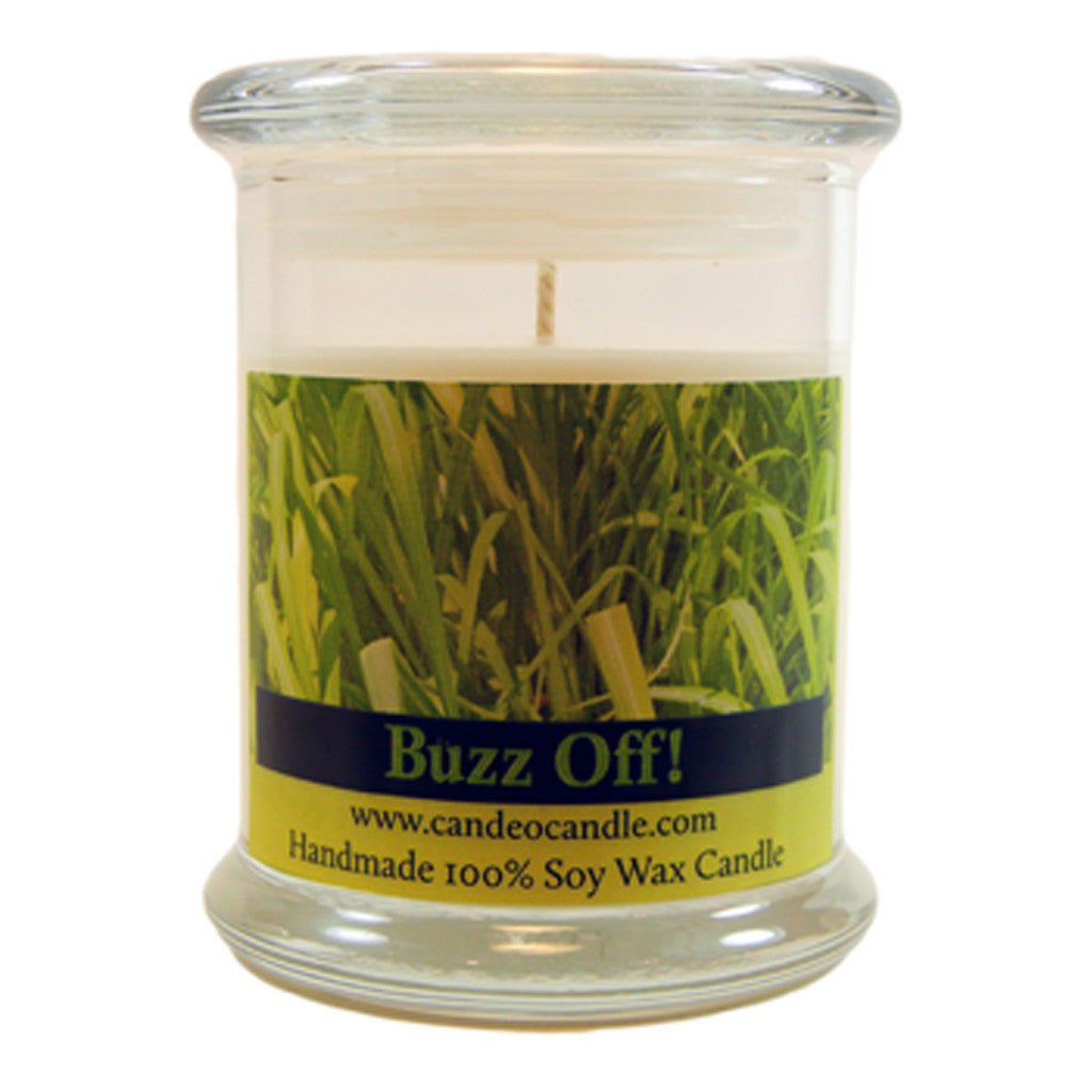 Buzz Off Essential Oil Blend, 9oz Soy Candle Jar - Candeo Candle