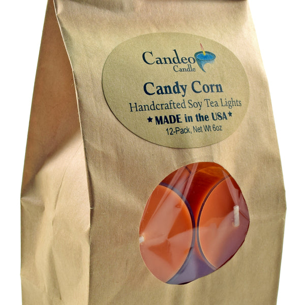 Candy Corn, Soy Tea Light 12-Pack