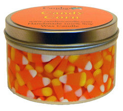 Candy Corn, 6oz Soy Candle Tin - Candeo Candle