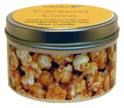 Caramel Corn, 6oz Soy Candle Tin - Candeo Candle