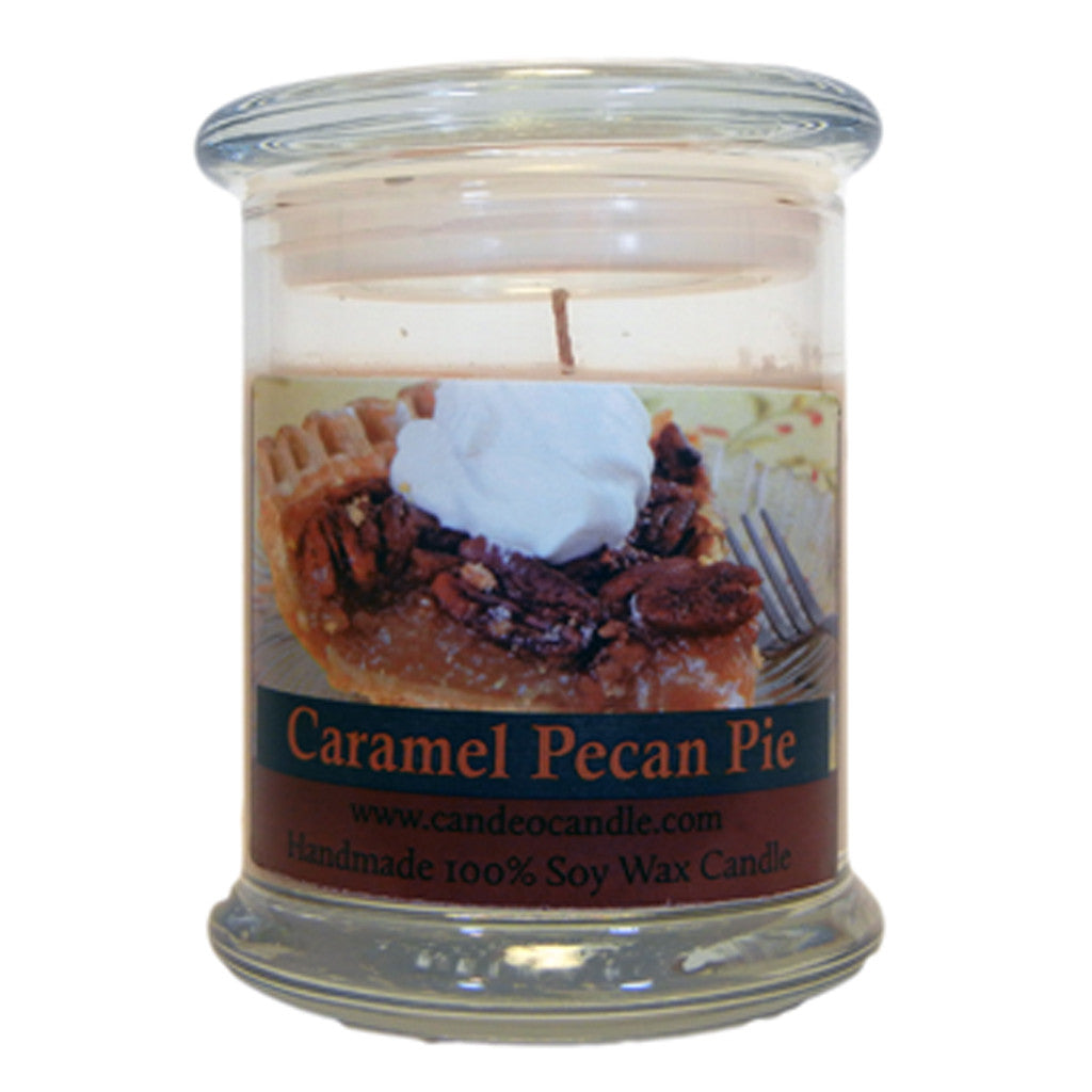 Caramel Pecan Pie, 9oz Soy Candle Jar - Candeo Candle