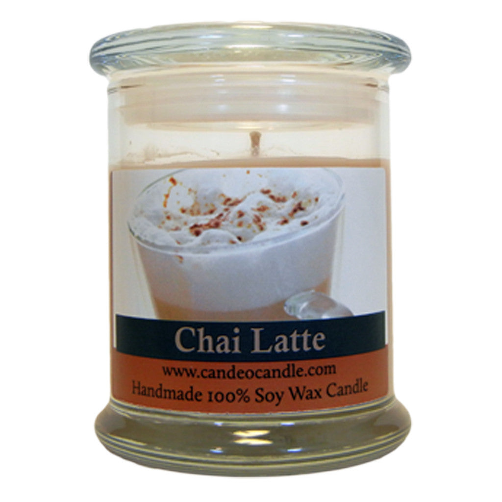 Chai Latte, 9oz Soy Candle Jar - Candeo Candle