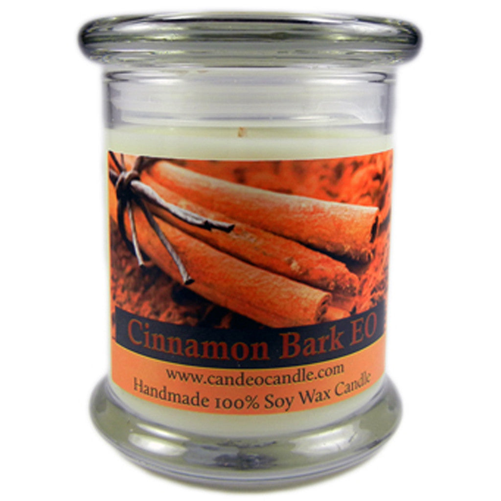 Cinnamon Bark Essential Oil, 9oz Soy Candle Jar - Candeo Candle