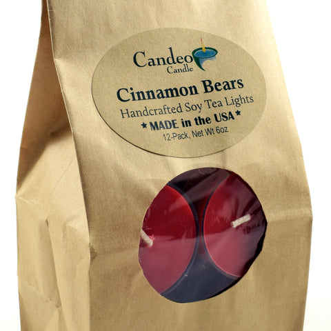 Cinnamon Bear, Soy Tea Light 12-Pack