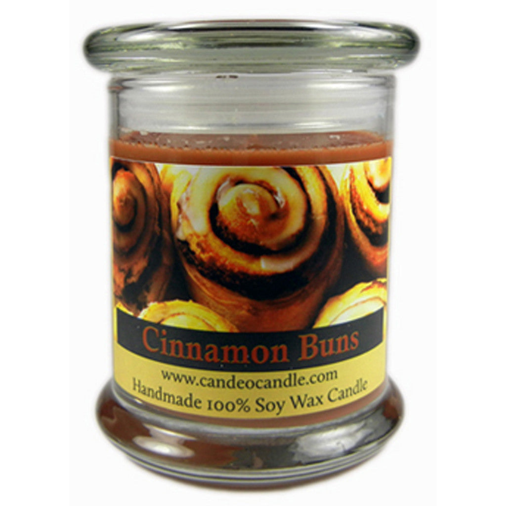 Cinnamon Buns, 9oz Soy Candle Jar - Candeo Candle