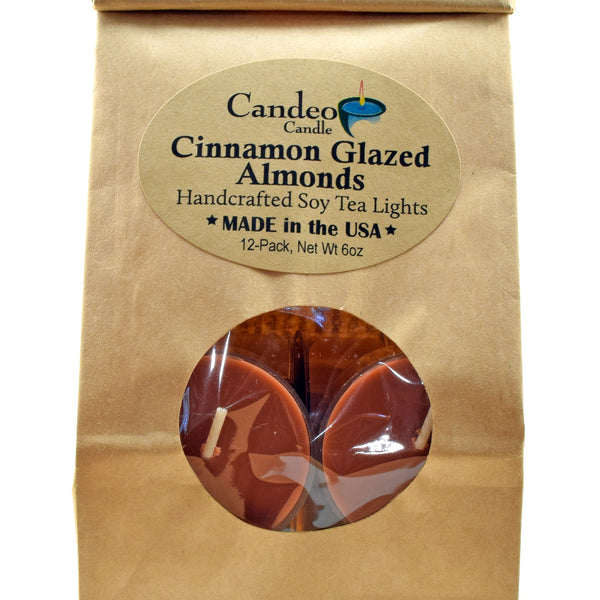 Cinnamon Glazed Almonds, Soy Tea Light 12-Pack