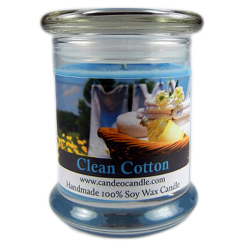 Clean Cotton, 9oz Soy Candle Jar - Candeo Candle