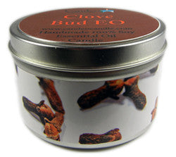 Clove Bud Essential Oil, 6oz Soy Candle Tin - Candeo Candle