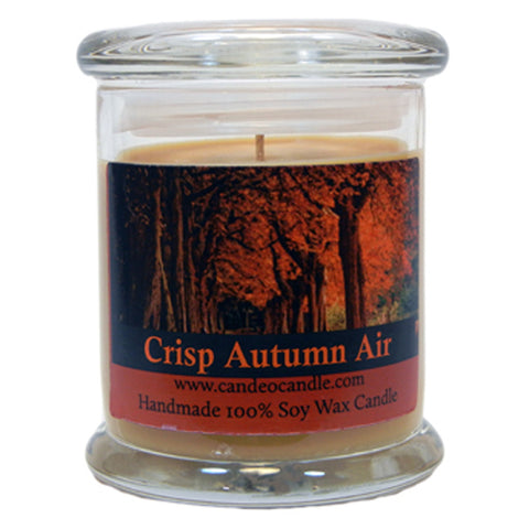 Crisp Autumn Air, 9oz Soy Candle Jar - Candeo Candle