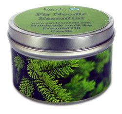 Fir Needle Essential Oil, 6oz Soy Candle Tin - Candeo Candle