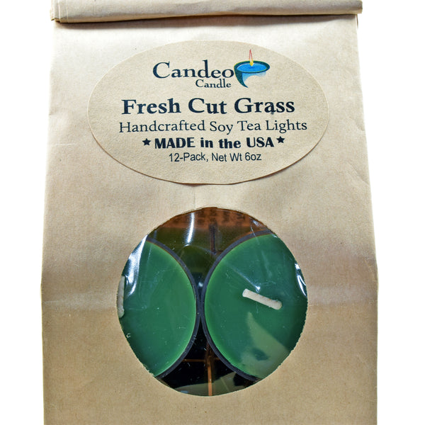 Fresh Cut Grass, Soy Tea Light 12-Pack