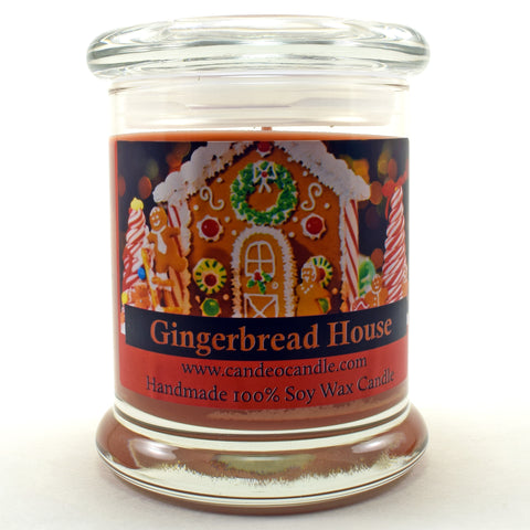 Gingerbread House, 9oz Soy Candle Jar