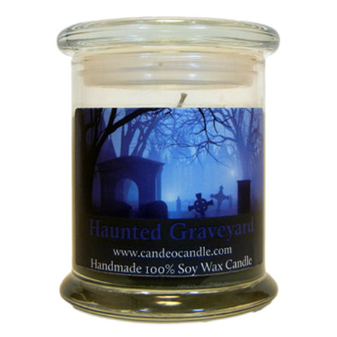 Haunted Graveyard, 9oz Soy Candle Jar - Candeo Candle