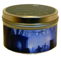 Haunted Graveyard, 6oz Soy Candle Tin - Candeo Candle