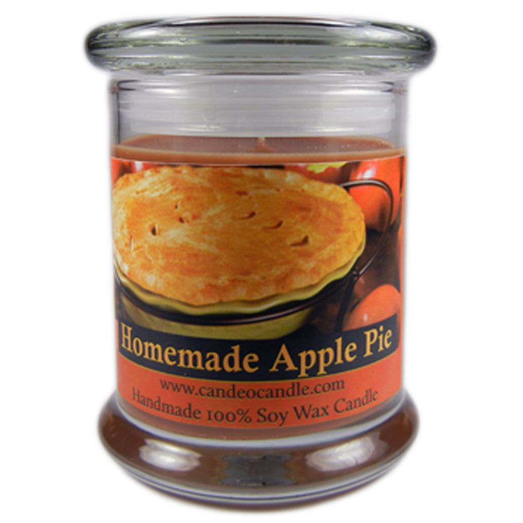 Homemade Apple Pie, 9oz Soy Candle Jar - Candeo Candle
