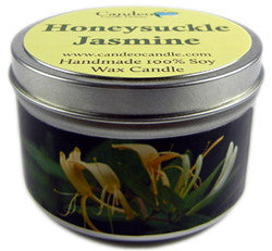 Honeysuckle Jasmine, 6oz Soy Candle Tin - Candeo Candle
