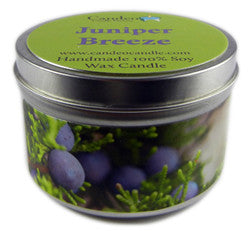 Juniper Breeze, 6oz Soy Candle Tin - Candeo Candle