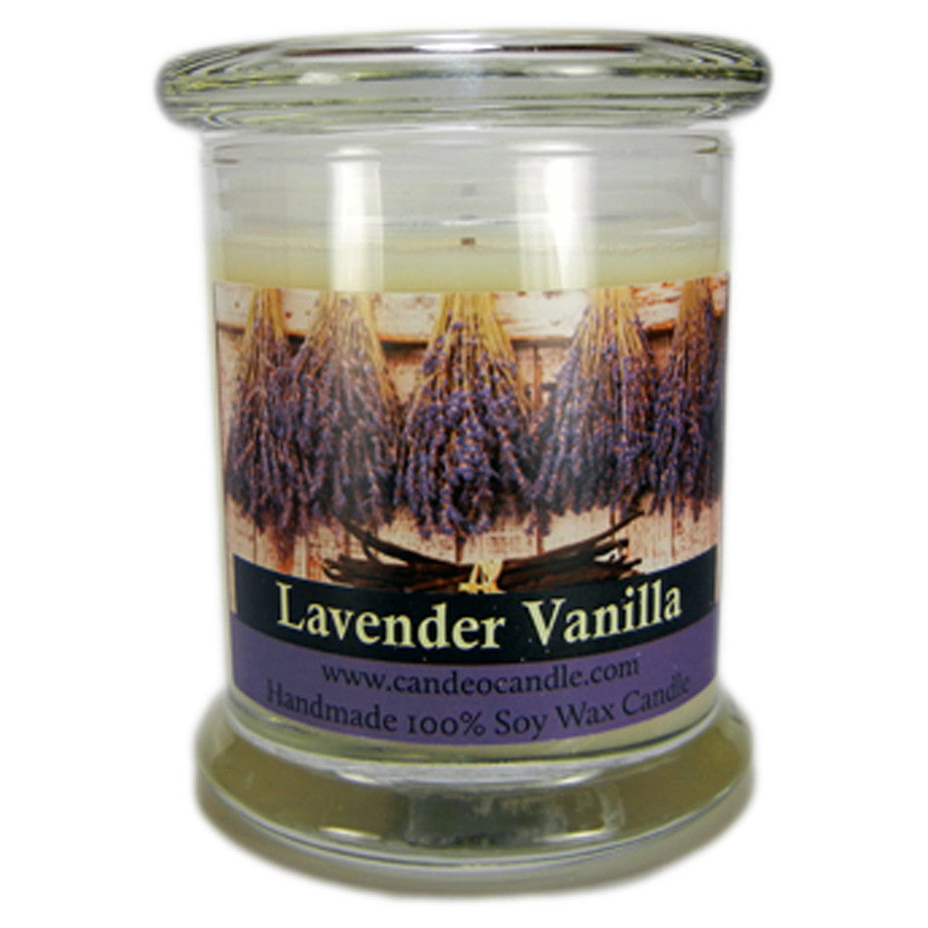 Lavender Vanilla, 9oz Soy Candle Jar - Candeo Candle