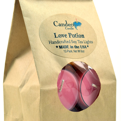 Love Potion, Soy Tea Light 12-Pack