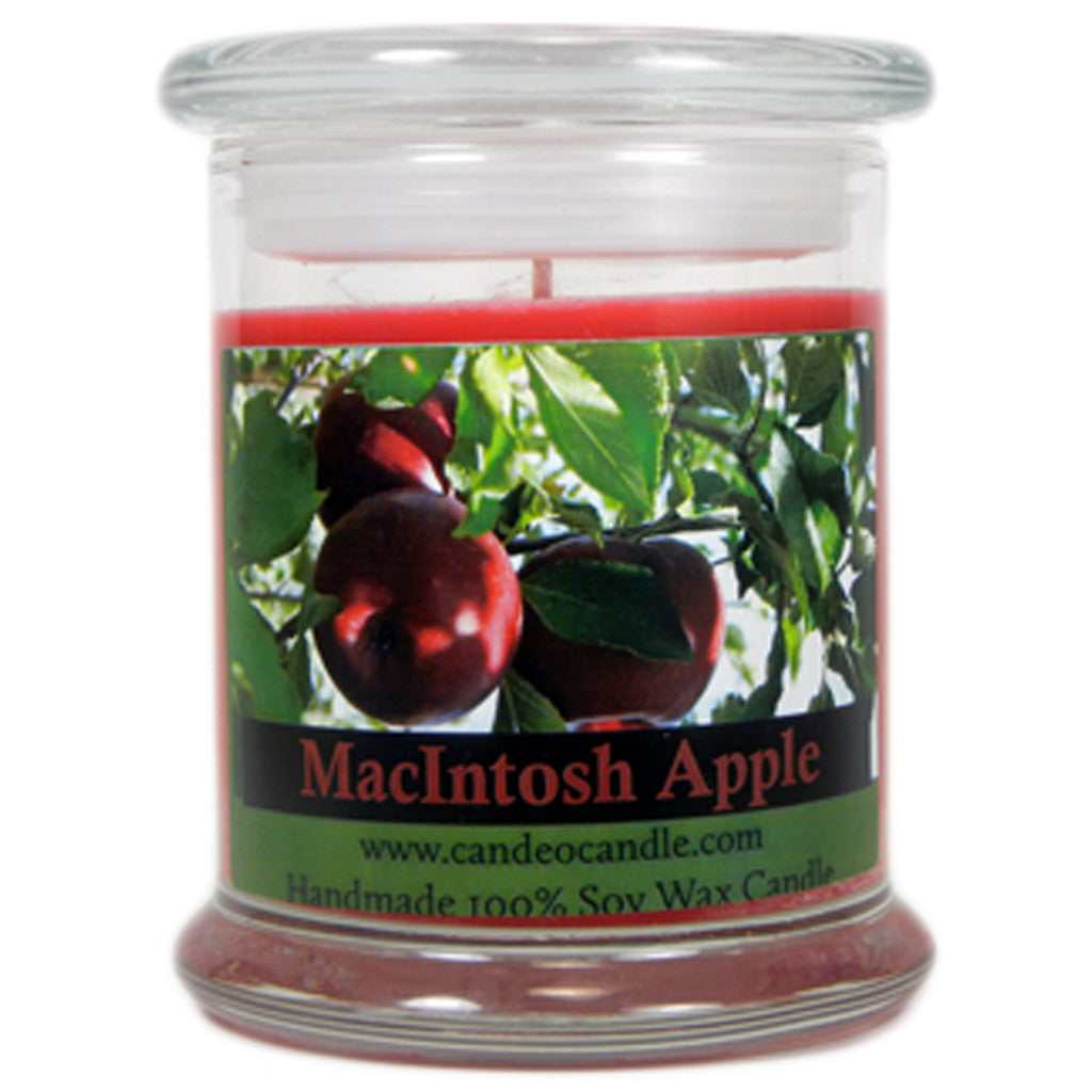 Macintosh Apple, 9oz Soy Candle Jar - Candeo Candle