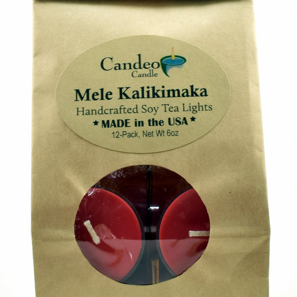 Mele Kalikimaka, Soy Tea Light 12-Pack