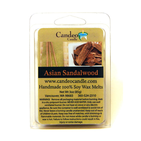 Asian Sandalwood, Soy Melt Cubes - Candeo Candle