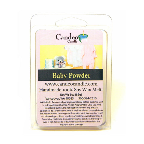 Baby Powder, Soy Melt Cubes - Candeo Candle
