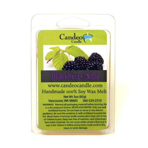 Blackberry Sage, Soy Melt Cubes - Candeo Candle