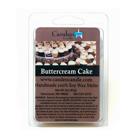 Buttercream Cake, Soy Melt Cubes - Candeo Candle