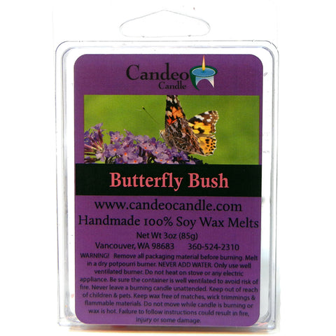 Butterfly Bush, Soy Melt Cubes - Candeo Candle