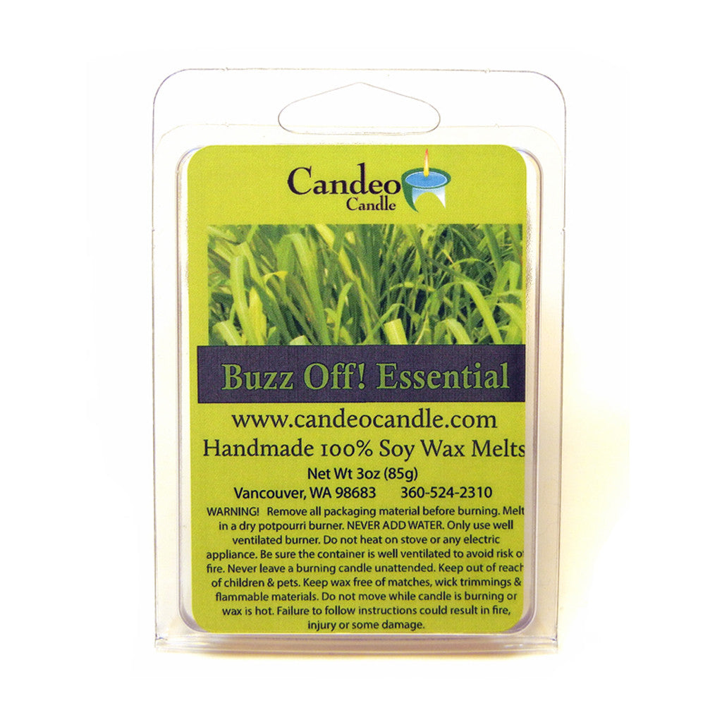 Buzz Off Essential Oil Blend, Soy Melt Cubes - Candeo Candle