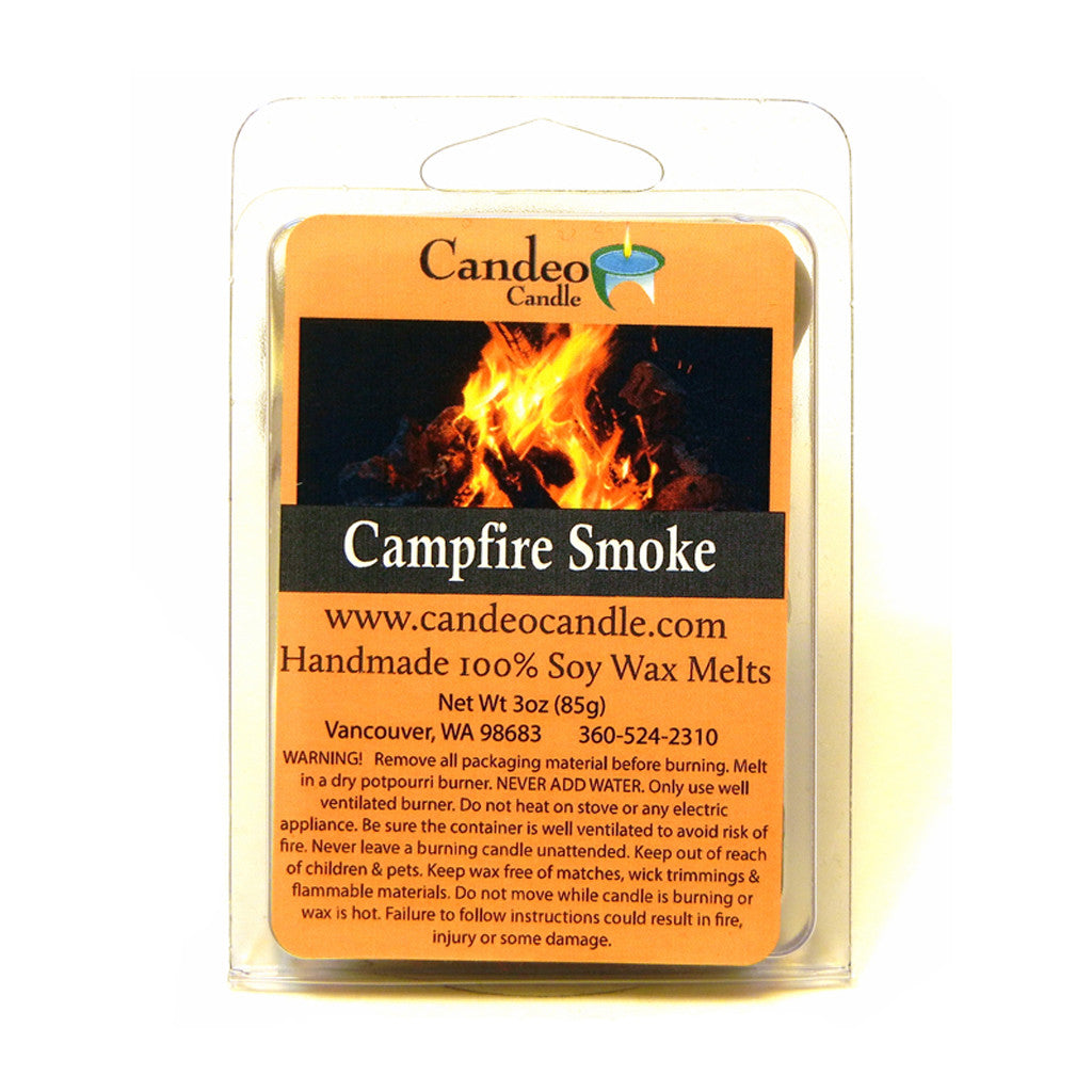 Campfire Smoke,Soy Melt Cubes - Candeo Candle