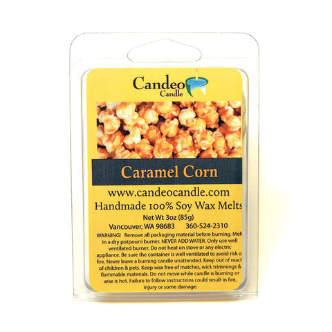 Caramel Corn, Soy Melt Cubes - Candeo Candle