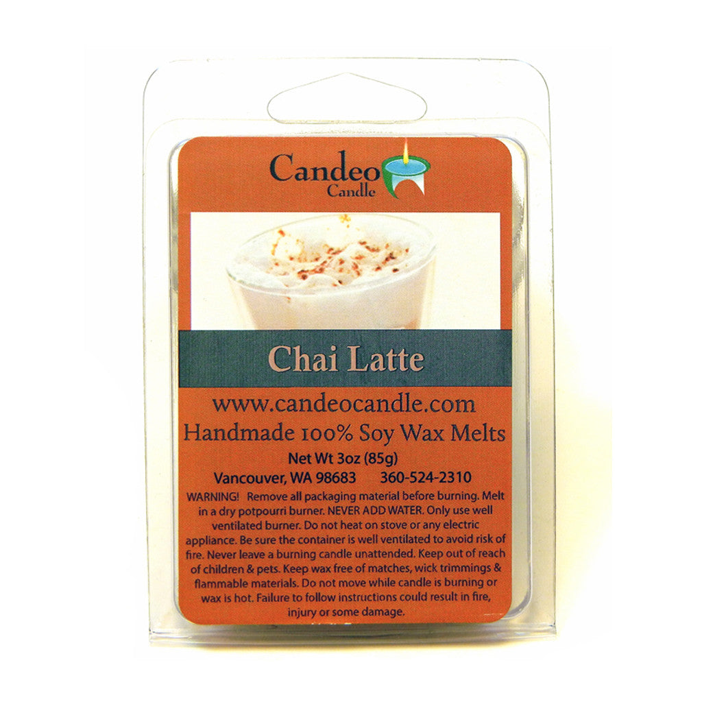 Chai Latte, Soy Melt Cubes - Candeo Candle