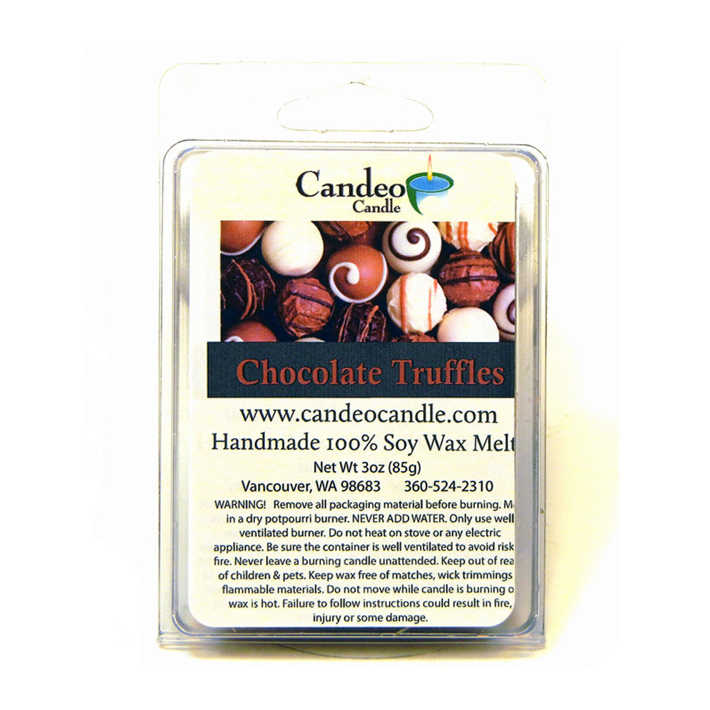 Chocolate Truffles, Soy Melt Cubes - Candeo Candle