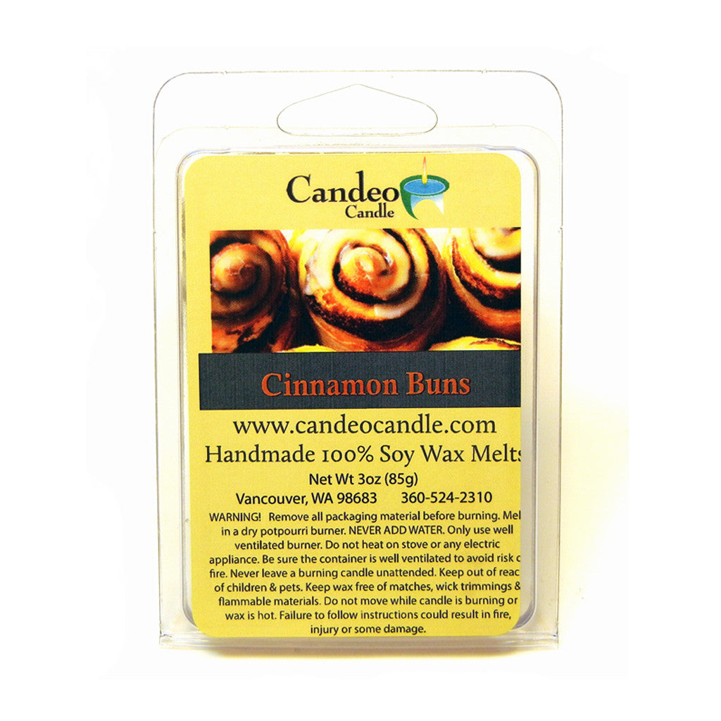Cinnamon Buns, Soy Melt Cubes - Candeo Candle