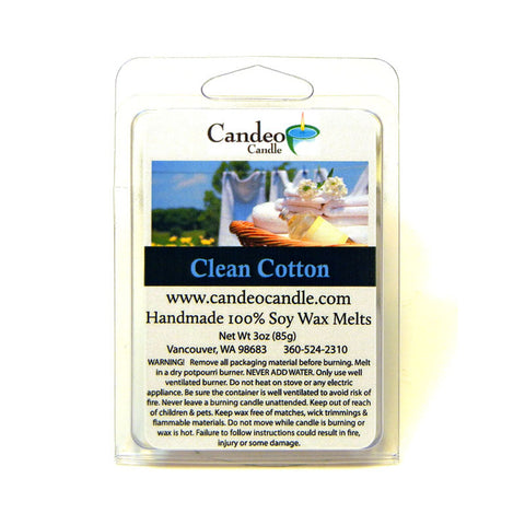 Clean Cotton, Soy Melt Cubes - Candeo Candle
